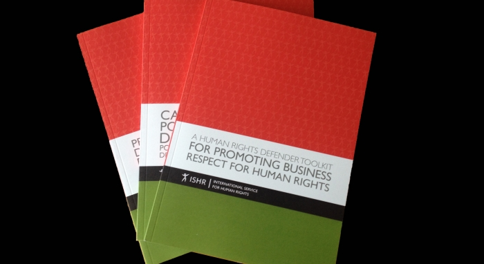 Business and Human Rights – a Handbook for Human Rights Defenders Published