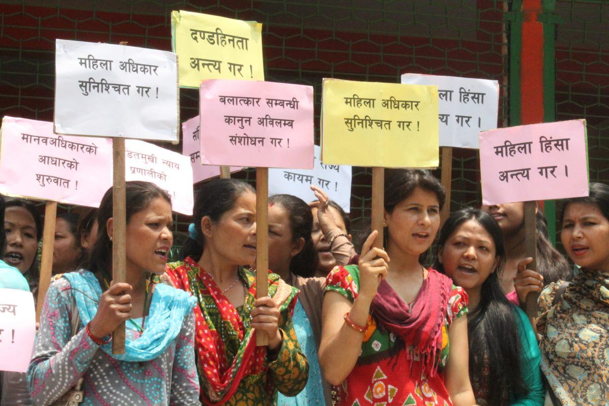 Women human rights defenders in Nepal.