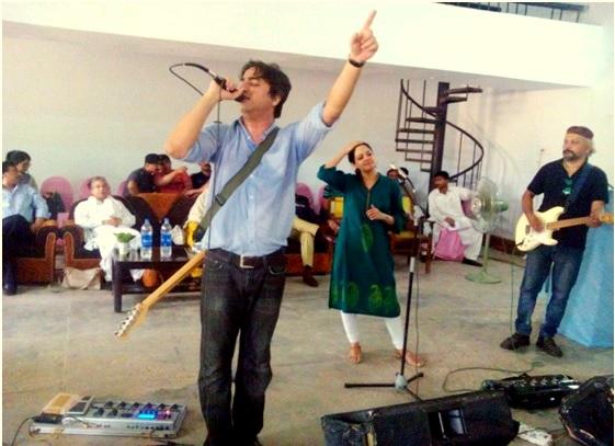Musicians perform to children in prison