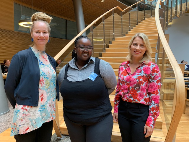 Njeri Gateru met with members of the Finnish Parliament, Hanna Sarkkinen and Saara-Sofia Sirén.