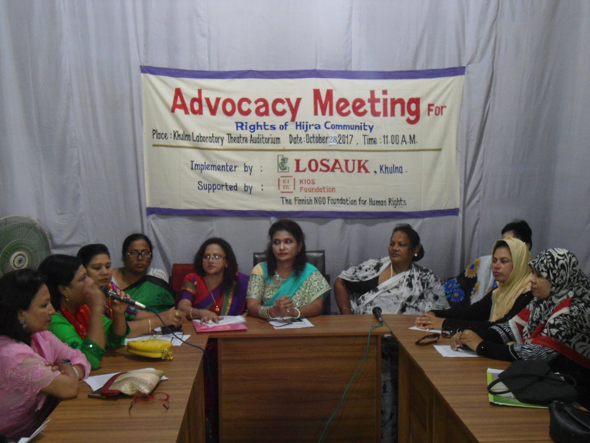 Women around a table