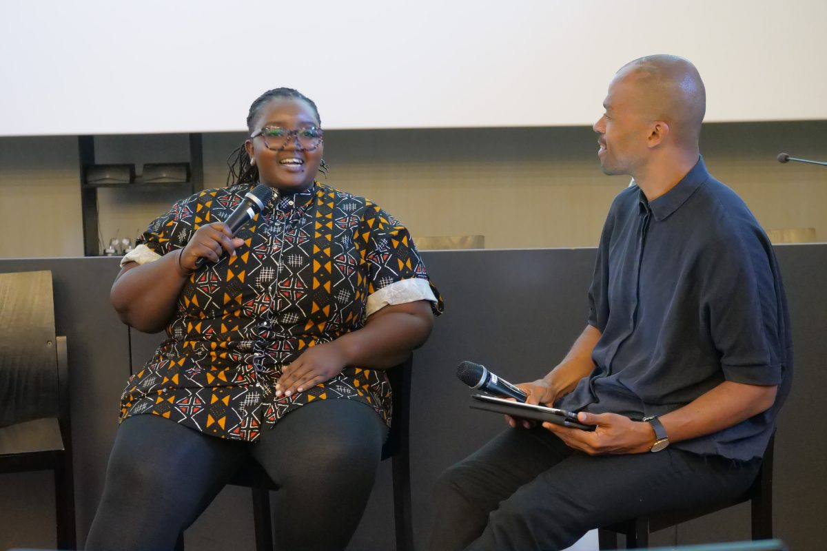 Njeri Gateru interviewed by Jani Toivola in Helsinki Pride Week