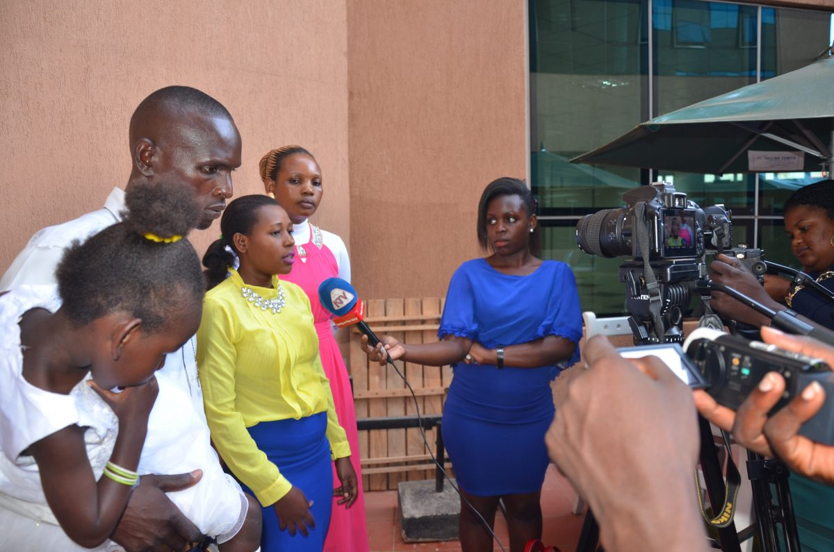 The couple interviewed by the Media after hearing the court judgement