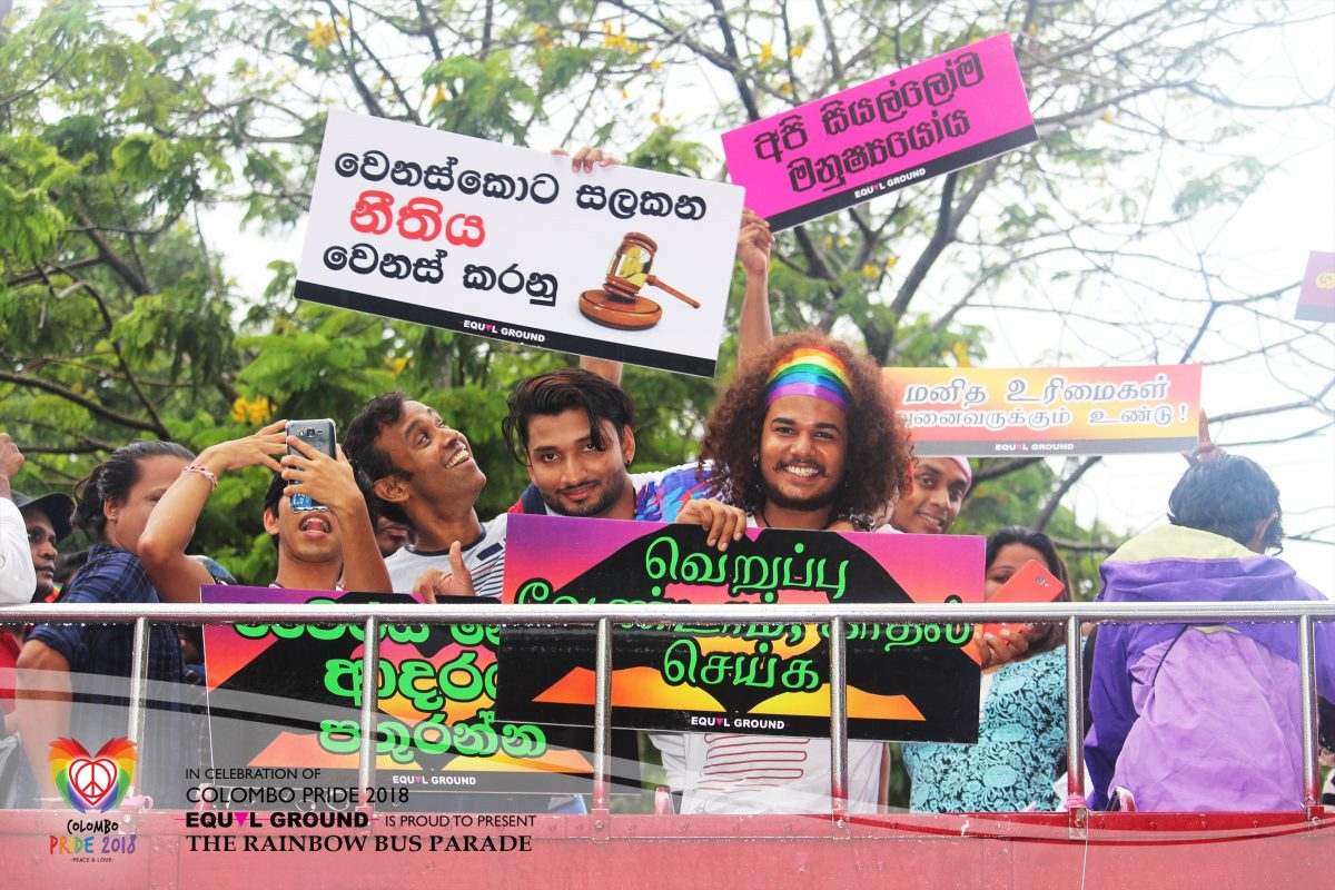 Equal Ground järjestö Colombo pride-festivaalilla
