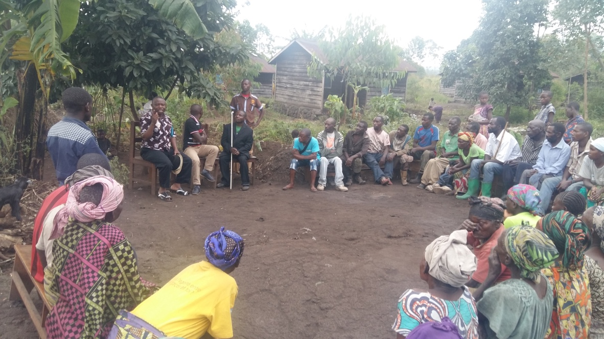 PIDP training local communities on human rights in Walikale, North Kivu / Picture by PIDP
